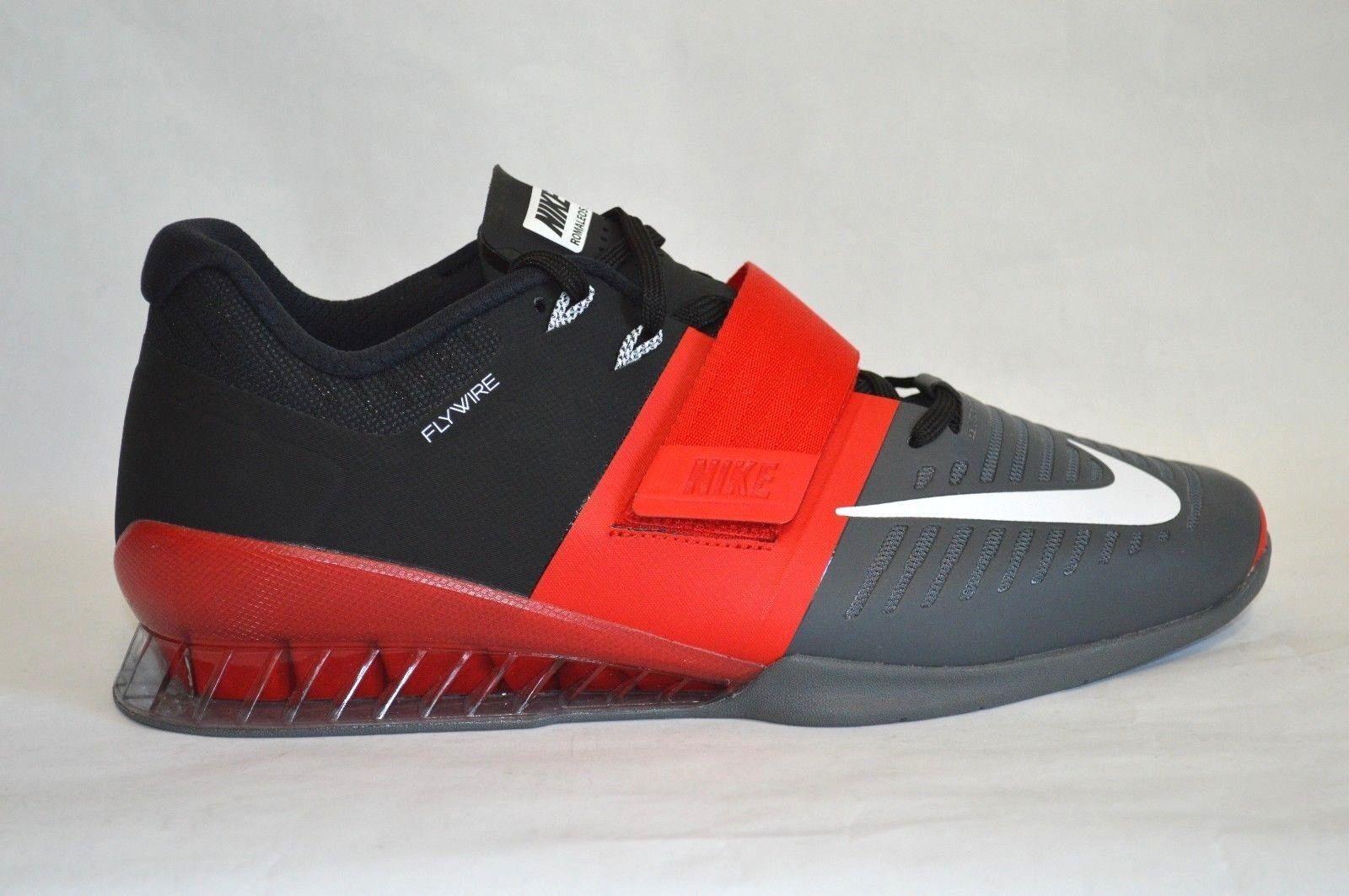 Nike Romaleos 3 da Uomo Sollevamento Pesi Crossfit Scarpe numeri 12.5 Rosso