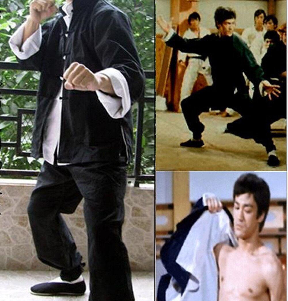 Traditonal Bruce Lee's Kung Fu Sets Wing Chun  Martial Art Uniform Mens Haihk  sale online discount low price