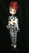 Vintage 60s SAKURA DOLL Big Eyes JAPAN Bradley Type Doll Kimono Redhead Dog