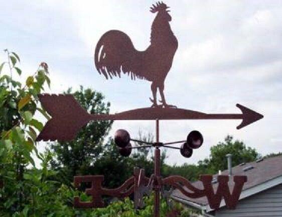 Vintage Style 120cm Multicolor Rooster Weathervane Chicken Weather Vane