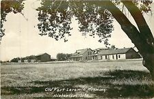 Wyoming, WY, Laramie, Old Fort Historical Site Real Photo Postcard