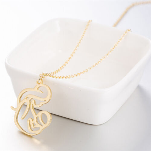Mom Mum Mommy Mother Breastfeeding Holding Baby Hollow Necklace Chain Jewellery