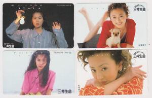 LOT 4 TC JAPON - FEMME Femmes pub Best Partner - GIRL WOMAN JAPAN phonecards - 7