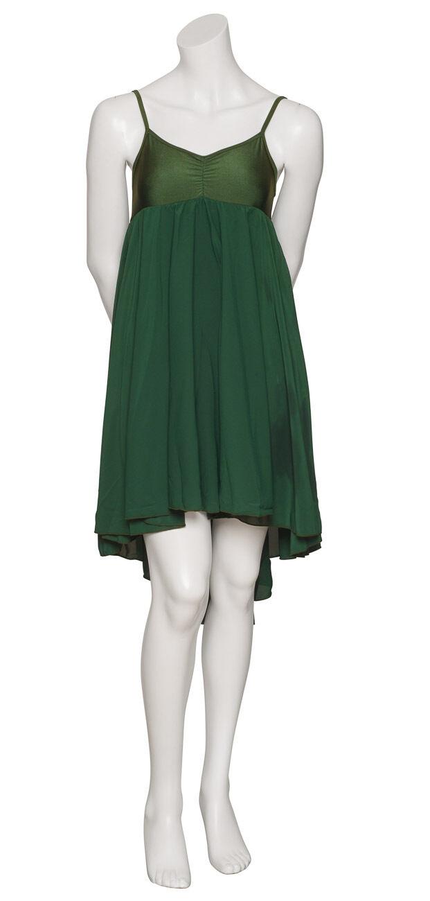 Ladies Girls Forest Green Plain Lyrical Dress Contemporary Ballet Dance By Katz