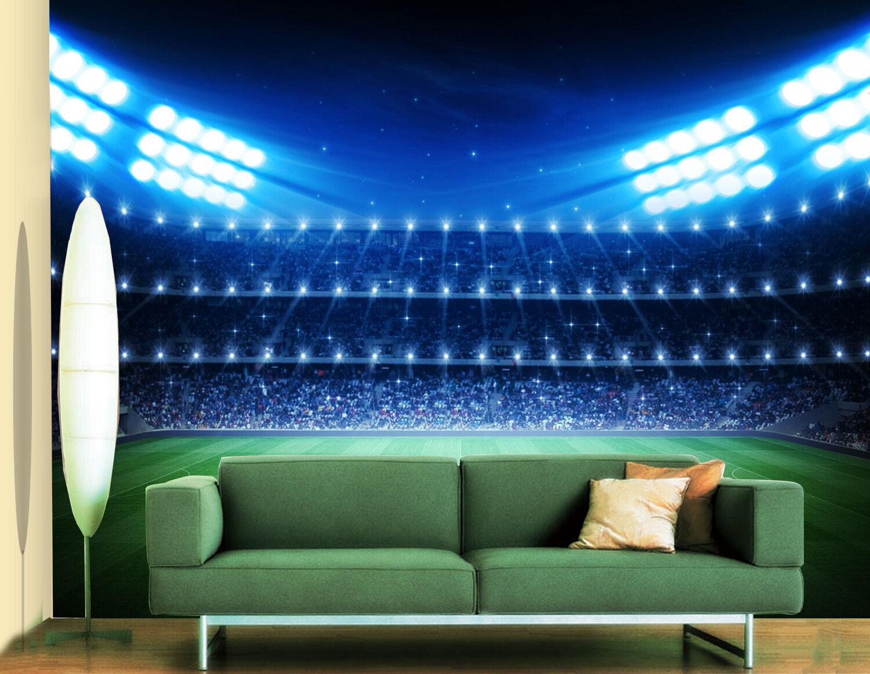 3D Stadio Blu 36 Parete Murale Foto Carta da parati immagine sfondo muro stampa