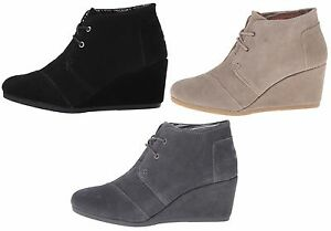 b87993a45d8 Image is loading TOMS-Women-039-s-Suede-Desert-Wedges