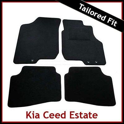 SKODA OCTAVIA SCOUT 2007 ONWARDS TAILORED BLACK CAR MATS WITH RED TRIM