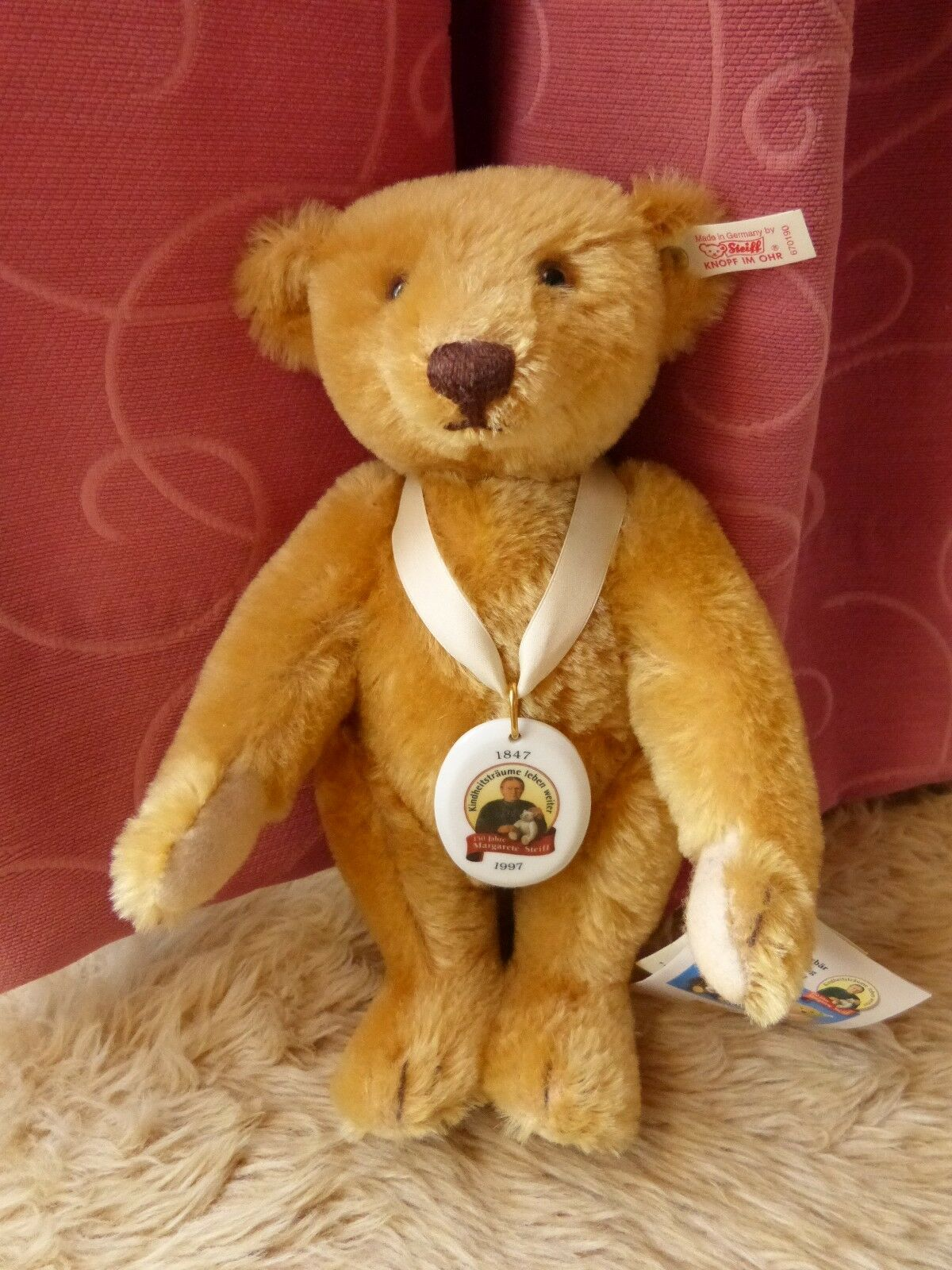 Steiff Teddy Bear Celebrating 150th Anniversary of birth of Margarete Steiff