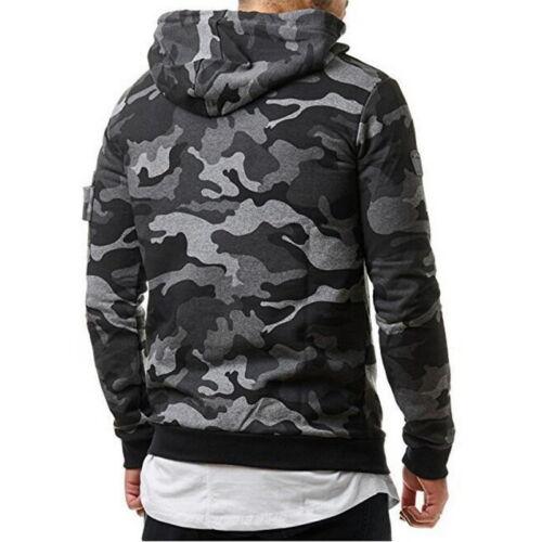 Fashion Mens Camouflage  Sweatshirts Hooded Hoodie Casual Slim Fleeces