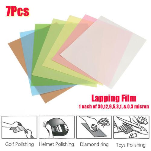 8.5x11 Microfinishing Sheet Lapping Film Assortment 30,12,9,3,1,5 0.3Micron M