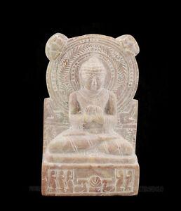 Statuetta Da Lord Budda Sarnath IN Pietra Intagliato Alla Mano India S2 C