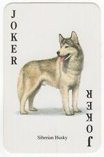 Playing Cards Single Card - Vintage JOKER - Siberian Husky Dog