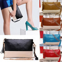 New Women Synthetic Leather Tassel Bag Clutch Bags Day Shoulder Messenger Bag