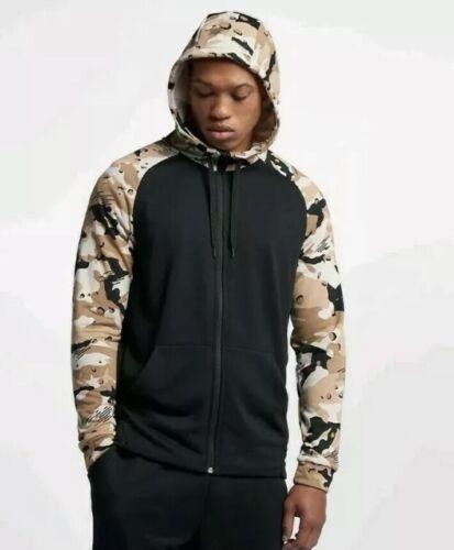 Sz cremallera 886061310995 Aq1138 hombre capucha negro Xl Nike Camisa para de Sudadera Dri con entrenamiento con fit Camo completa 010 rHrOq