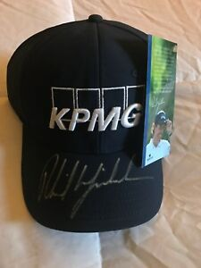fcd7dc39842 Image is loading PHIL-MICKELSON-SIGNED-AUTOGRAPHED-GOLF-HAT-KPMG-RARE