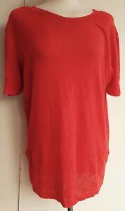 ZARA-Womens-Linen-T-shirt-Hip-Long-Top-Woman-Summer-Casual-Knitted-UK-S-M-22-99