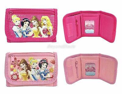 Disney Princess Portafogli Set Di 2 Ragazze Bambini Cartone Animato Portamonete