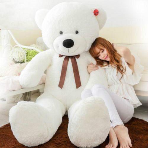 63'' Giant Big Hung bianca Teddy Bear Stuffed Plush Soft Toys Gift + Fast Ship