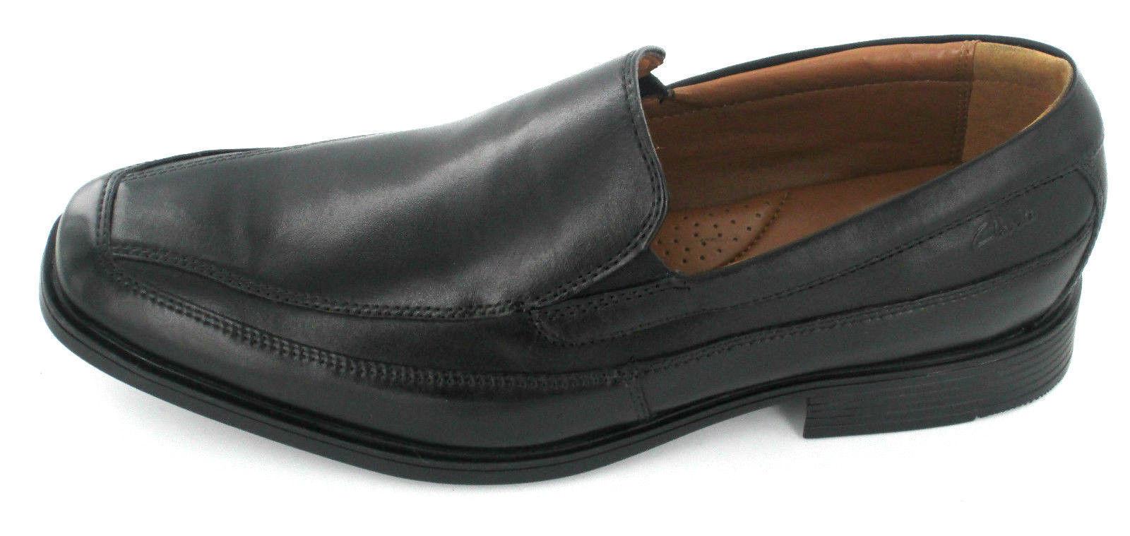 CLARKS Tilden Free Mens Black Leather slip on shoe