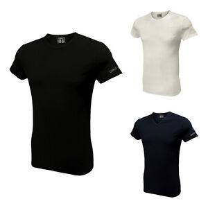 Set-3-T-Shirt-Uomo-CERRUTI-Cotone-Elasticizzato-Bianco-Nero-Assortito-DD