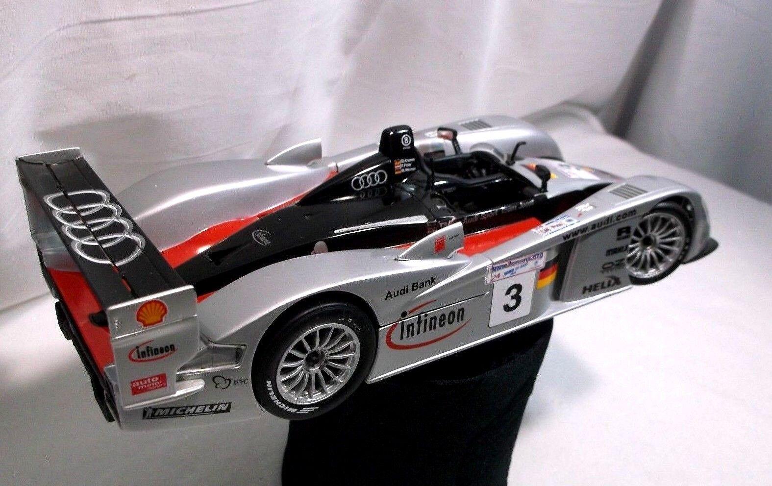 Maisto 1 18 Scale Infineon Audi R8 Le Mans 2002