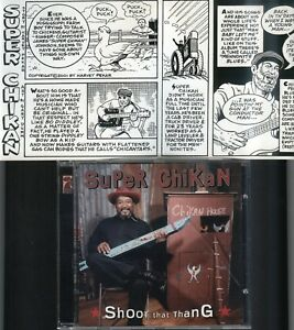 Blues-CD-w-Harvey-Pekar-comic-SUPER-CHIKAN-SHOOT-THAT-THING-Rooster-Blues