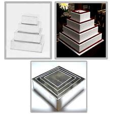 EURO TINS 4 Backformen Quadrat für mehrstöckige Hochzeitstorte - 4er-Set