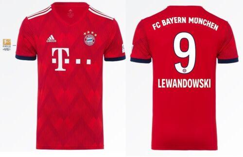 Bundesliga 128-XXXL Lewandowski 9 Trikot Adidas FC Bayern 2018-2019 Home BL