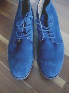 $199 New Florsheim Blue Suede Desert