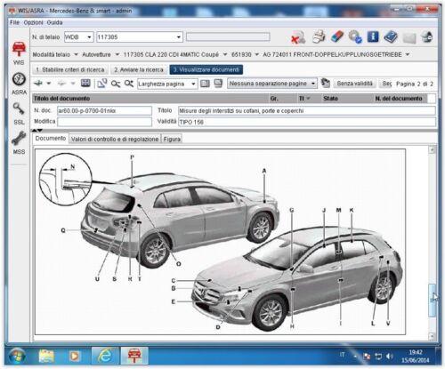 manuali riparazioni Mercedes /& Smart WIS 4//2015 repair manuals