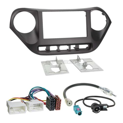 Hyundai i10 Typ IA ab 13 2-DIN Autoradio Einbauset Adapter Kabel Radioblende