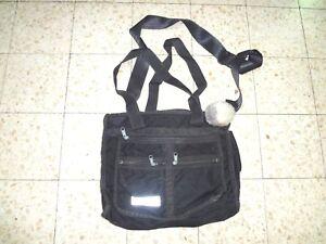 Zahal-Rare-Authentic-MILITARY-Field-Bag-Israel-Infantry-w-IDF-ARMY-LABEL-Black