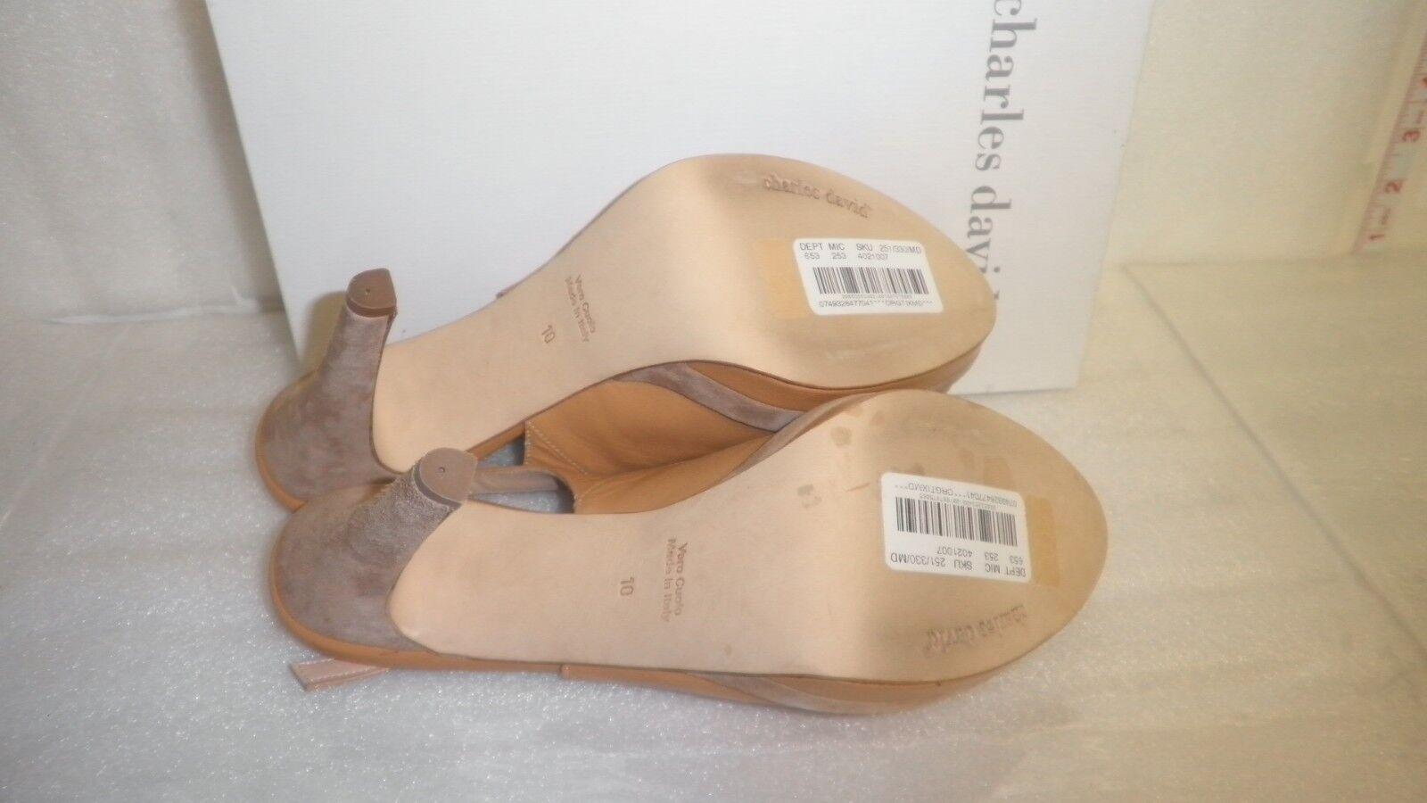 Charles David New damen braun Open Open Open Toe Slingback Heels 10 M schuhe NWB 3fe7a5