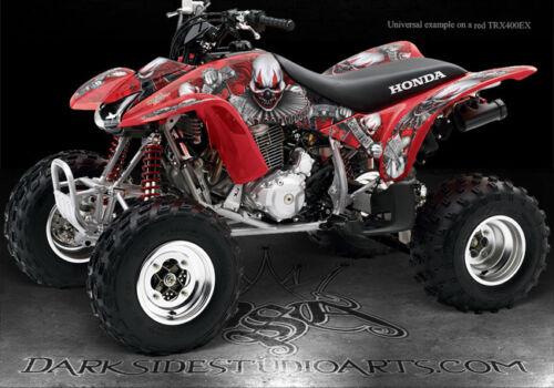 "HONDA 2005-2007 TRX400 TRX400EX RED GRAPHICS /""THE FREAK SHOW/""  SPORTRAX DECALS"
