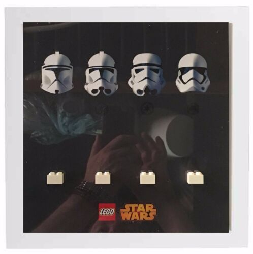Lego star wars stormtroopers minifigures display case cadre photo minifigs
