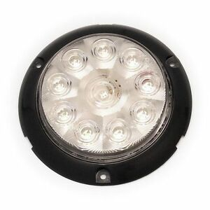 10 led 4 round surface mounted white backup reverse light. Black Bedroom Furniture Sets. Home Design Ideas