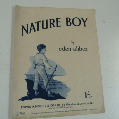 song sheet NATURE BOY Eden Ahbez 1948