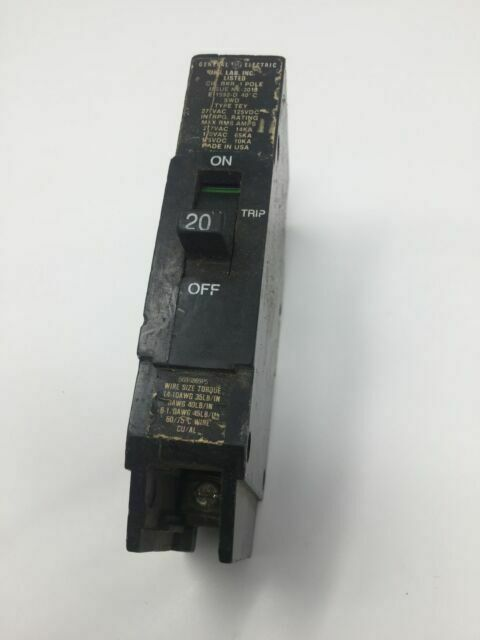 GE General Electric Circuit Breaker 1 Pole 20 AMP 277 VAC TEY120 1 YEAR WARRANTY