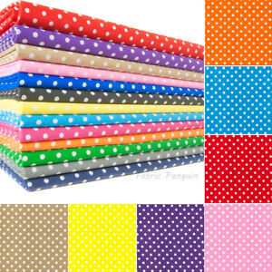Polka-Dots-Fabric-5MM-Polycotton-Craft-Dots-Spots-Spotty-Kids-Childrens-Dress