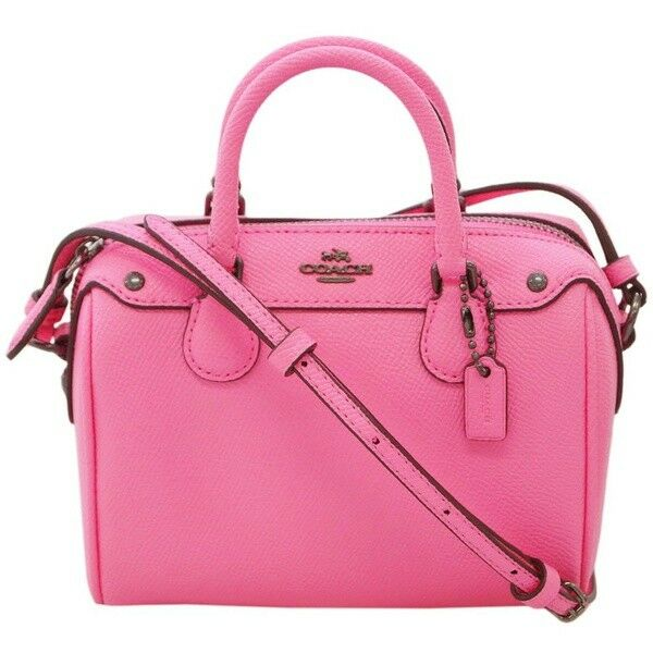 Coach F28717 Micro Mini Bennett Satchel Crossgrain Crossbody Neon Pink for  sale online  434d2f7339d5f