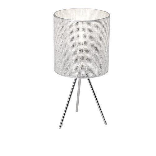 Dubaï Lampe de table trois Chrome Argent Brilliant pieds Strass