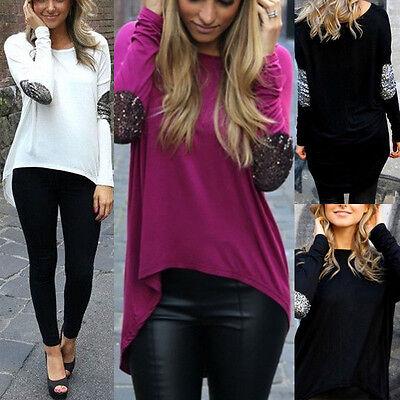 Sexy Fashion Women's Loose Tops Long Sleeve Shirt Casual Blouse