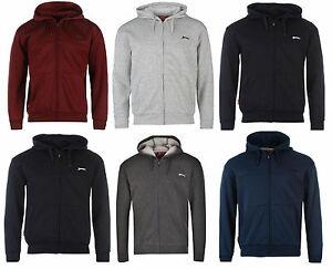 Slazenger-Kapuzenpullover-Hoodie-Hoody-Zipjacke-Sport-Sweater-Herren-NEU-Zip
