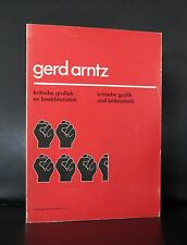 Gerd Arntz, Isotype # KRITISCHE GRAFIK # catalogue Raisonne, 1976, nm