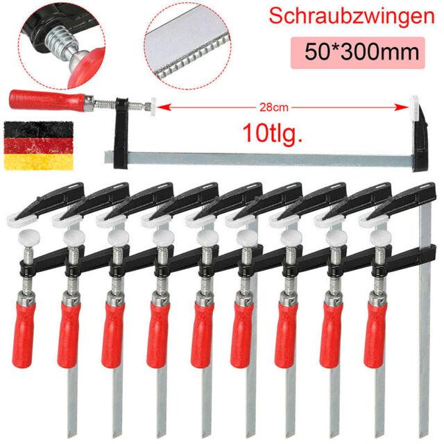 1-10 Schraubzwinge 150//200//250x50 300x80 300//500//800//1000x120 Leim-// Klemmzwinge