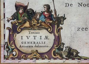 DANEMARK-IUTIAE-JUTLAND-WAPPENKUPFER-JANSSONIUS-1658