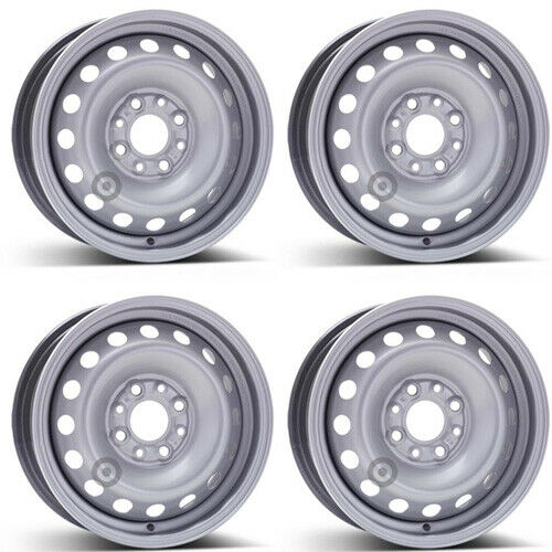 4 Cerchi ferro Alcar 4450 5.0x13 ET35 4x98 per Fiat Panda