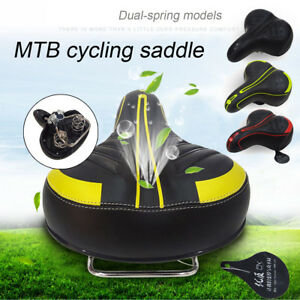 Extra-Wide-Comfy-Cushioned-Bike-Seat-Soft-Padded-Bicycle-Gel-Universal-Saddle