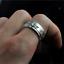 Solido-de-plata-esterlina-925-Anillo-De-Hombre-Anillo-de-Hilandero-De-Dragon-8mm-Banda-De-Regalo miniatura 1