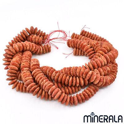 Vintage Red Natural Sponge Coral Beaded Bracelet 15mm